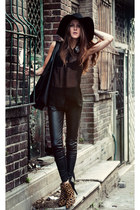 black sheer AX Paris blouse
