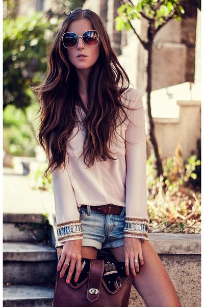 light pink chiffon Sheinside blouse