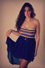 Striped-charlotte-russe-skirt-blue-sirens-skirt-blue-chunky-thrifted-belt