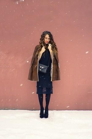 brown asos coat - dark brown Topshop bag