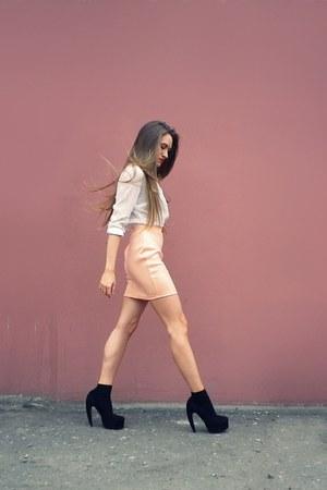 peach H&M skirt