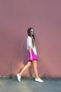 White-asoscom-sneakers-magenta-h-m-skirt