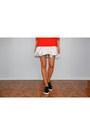 Red-asos-sweater-white-asos-skirt-black-stradivarius-loafers