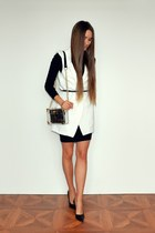 black asos dress - white Sheinside blazer