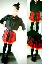 black Style TIba boots - carrot orange Sally Rose shorts
