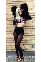 Miss Selfridge jacket - Topshop bra - H&M shoes