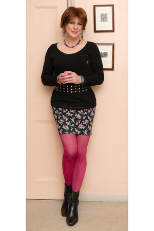 George Asda boots - F&F tights - asos top - new look skirt - asos belt