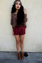 red Forever 21 shorts