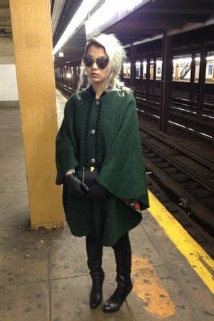 Maxstudio boots - Karen Walker sunglasses - vintage cape
