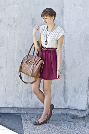 burgund new look skirt