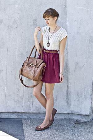 burgund new look skirt