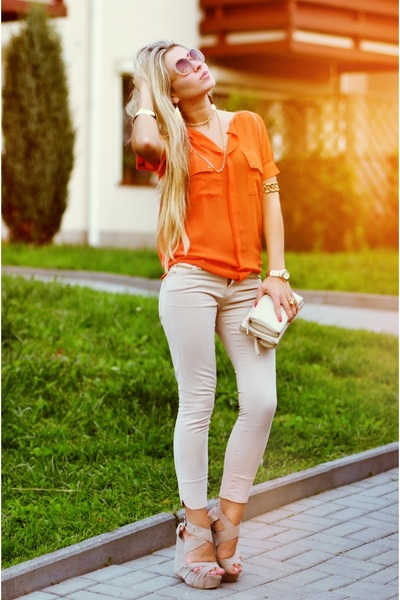 neutral Zara pants
