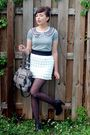 Gray-postlapsaria-shirt-black-seychelles-shoes-white-modcloth-skirt