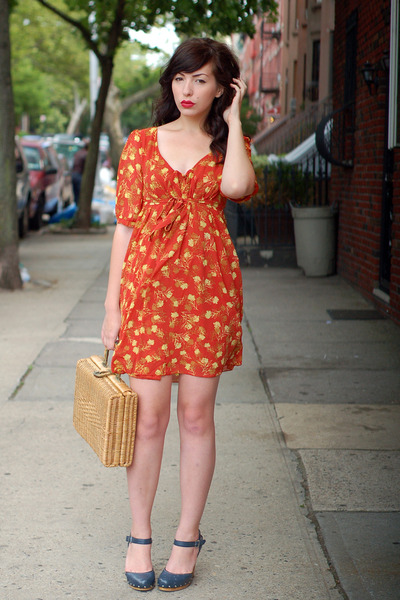 orange Spotted Moth dress