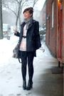 Pink-top-black-shop-mamie-skirt-black-shoes-black-tights-gray-coach-purs