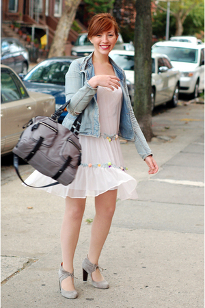 French Connection jacket - kimchi and blue dress - coach purse - Jeffrey Campbel