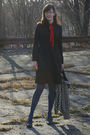 Black-thrifted-vintage-dress-black-vintage-sale-jacket-red-thrifted-vintage-