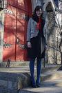 Black-thrifted-vintage-dress-black-vintage-sale-jacket-red-thrifted-vintage-