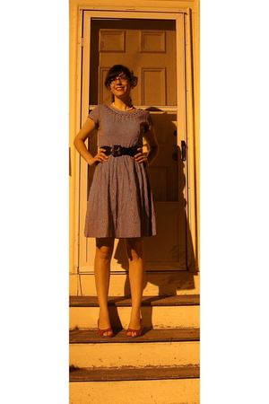 vintage dress - Marshalls belt - Target shoes - Gifts accessories