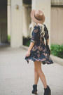 Black-matisse-boots-dark-green-tallow-dress