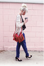 Red-bag-blue-forever-21-pants-black-nine-west-heels