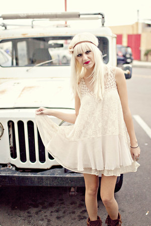 eggshell free people dress
