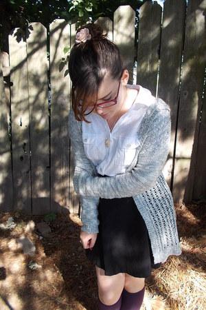 liz claiborne top - H&M shirt - unknown socks - JCPenney cardigan