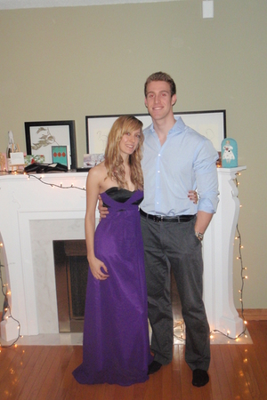 purple DIY dress