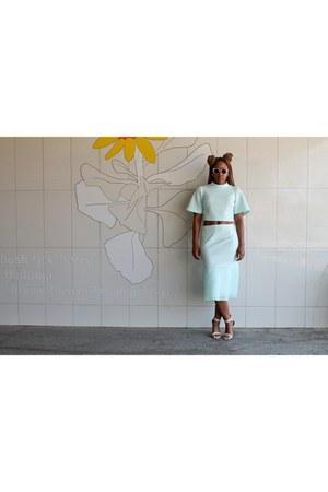 lumo Mr Price purse - net Mr Price skirt - thin strap Footwork heels