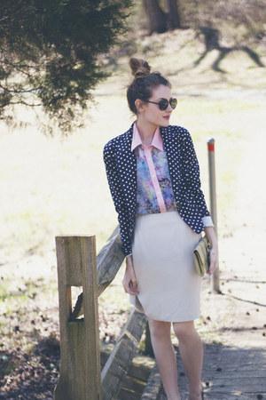 xhilaration blazer - Almost Famous sunglasses - Living Doll blouse