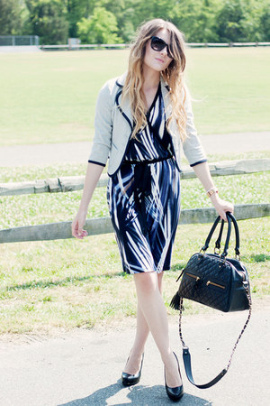 Karen Kane dress - Urban Outfitters blazer - theIT bag - Michael pumps