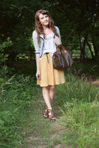 Louis Vuitton bag - f21 belt - f21 skirt - f21 top - Target wedges
