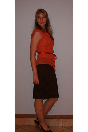 unknown blouse - Truworths skirt - Luella shoes