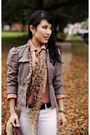 Gold-leopard-vintage-from-ebay-scarf-white-delias-jeans