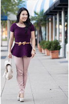 Pink Purple Peplum