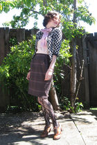 black STYLE AND CO cardigan - pink from winners top - pink bow accessories - bro