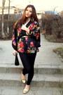Black-simple-sprider-store-leggings-black-detailed-kimono-h-m-blazer