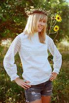 white unknown blouse