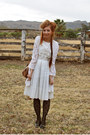 Bow-vintage-dress-vintage-hat-lace-vintage-jacket-hearts-target-tights