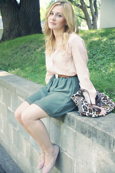green American Apparel skirt - dark brown Michael Kors purse