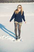 Jeffrey Campbell shoes - vintage sweater - Urban Outfitters shorts