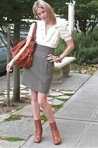 Max and Cleo dress - Suzie purse - bracelet - thrift shoes