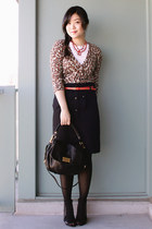 black Marc by Marc Jacobs bag - navy Anthropologie skirt