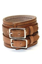 brown brown leather Birdhouse Designs bracelet