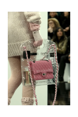 Chanel purse - Chanel sweater - Chanel socks