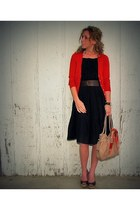 navy Gap dress dress - Anthropologie bag - dark brown Claires belt - tawny JCrew