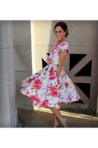 crepe de chine Kristina J dress - patent Nine West pumps
