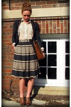 UO shoes - Nine & Co bag - Anthropologie skirt - Anthropologie blouse - Loft car