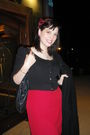 Black-urban-planet-cardigan-black-purse-black-le-chateau-coat-red-vintage-