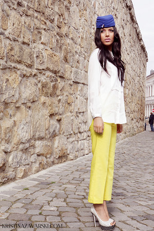 H&M shirt - Zara pants - Kristina Zavarski hair accessory